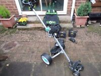 HILL-BILLY Electric Golf Trolley, With EXCHANGEABLE Winter HEDGEHOG Wheels