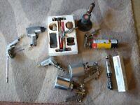Various air/ bodywork tools
