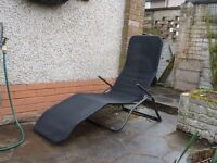 Gravity Sun Lounger x 2. Used, good condition. Very light and fold down for easy storage.