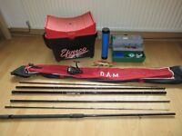 Course Fishing Gear / EFGEECO Seat box / Rods / Tackle box / Floats / Hooks ect