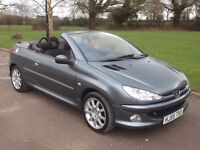 2005 PEUGEOT 206 CC SPORT 1.6, MOT MARCH 2018, ONLY 87,000 MILES, ONLY £995