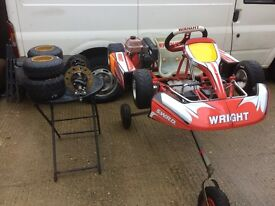 Wright bambino go kart for ages 5-8 msa ready very good kart and soxiante comer c50 engine