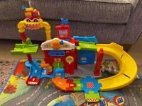 Vtech Toot Toot Drivers Fire Station & playmat