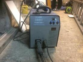 welding machine also a small hobby welding machine big grinder and small one dewalt chop saw 2 drill