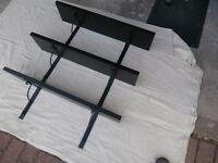 IKEA 'Ekby Jarpen' shelves, set of 3 in black with Ekby Hall brackets