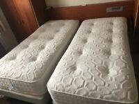 "Superking size mattress - zip link. Two 36""x78"" mattresses, very good condition"