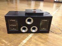 "Vibe twin 12"" bass box and 1200 watt monoblock amp with bass controller"