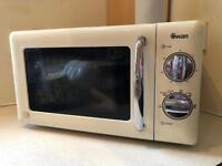 Swan SM22080C 900W 20L Retro Cream Microwave Oven