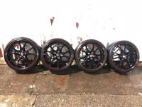 """Genuine UNMARKED Honda Civic type r 20"""" alloy wheels with tyres mint condition"""