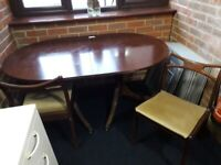 Oval Dining Table plus Four Chairs