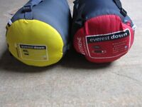 Mountain Life Extreme Everest ,Down Sleeping Bags x2 !! [ 1 Bag Sold!!!!]