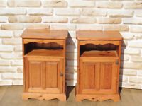Pair of bedside cabinets with storage cupboards (Delivery)
