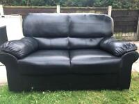 2 seaters faux leather sofa