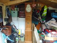 grandfather clock/pine /battery operated/stunning collect aberbargoed