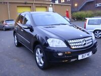 LEFT HAND DRIVE ML 320 CDI 2006 MODEL (10/05) NEW SHAPE 164,METALLIC BLACK,UK REGISTRATION
