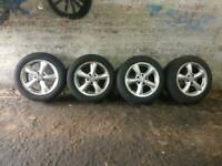 "Mercedes W210 E Class 16"" 5 spoke staggered alloy wheels set for sale  Moseley, West Midlands"