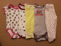 Baby Rompers and pants bundle. Carter's brand age 0 to 6 months