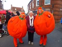 2 Satsuma costumes, with interactive costume and parts, female.