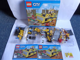 Lego city set 60074 Bulldozer - mostly still sealed - never built - Only £12 - Ideal Christmas gift