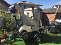 Single Seat Golf Buggy With trailer and spare wheel All Weather Protection