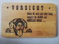 Vorsicht Hund Schild Holz lasergravur Bayern - Altenstadt an der Waldnaab Vorschau