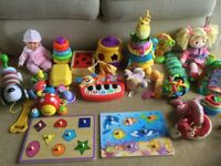 Bundle of baby and toddler toys