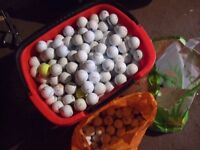 100 CLEAN USED GOLF BALLS LOTS OFF BRANDS , INCLUDING NIKE, TITLEIST, CALLAWAY