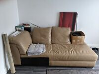 FREE large L shaped leather sofa