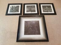 Pictures of New York in black wooden frames x 4