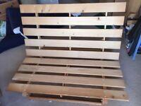 Wooden double Ikea futon frame