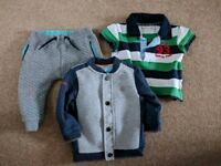 Designer Baby Boys Bundle (Ted Baker & Jo Jo Maman Bebe) Polo, Jacket & Trousers 6-12 / 9-12 months