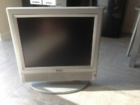 "Nice 15"" Grey colour tv with power supply and remote (remote little battery back missing)"