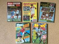5 Football Annuals from the 1980s