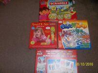 Board Game Bundle including My First Scrabble - Dora the Explorer