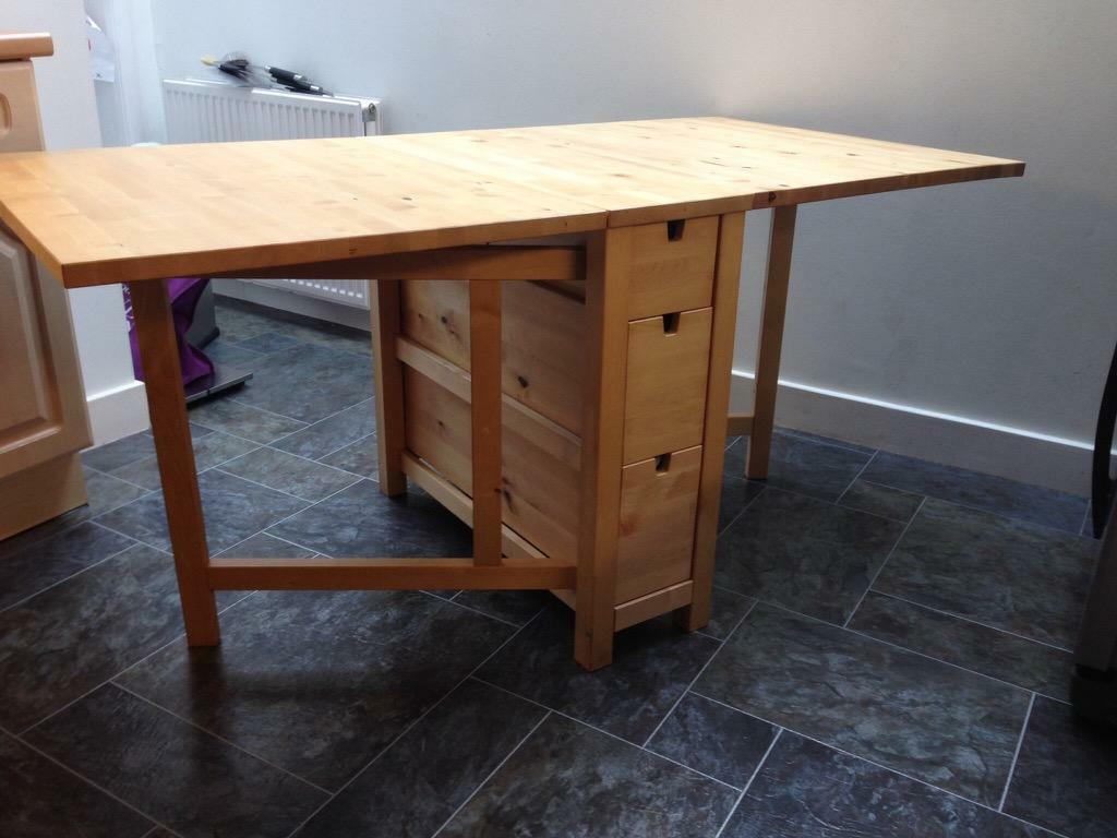 Fold Down Dining Table With Drawers IKEA Dining Table With 6 Drawers