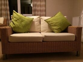Conservatory or Garden furniture sofa and chair