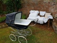 Silver Cross Carlton coach built pram, gently used, with extras