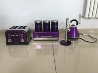 Purple Kettle, Breadbin and Kitchen Roll Holder for sale!!!
