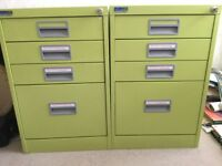 Filing Cabinet Lime Green x 2