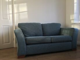 Marks & Spencer teal 2 seater sofa
