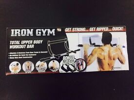 Door Gym Bar Extreme Iron Man Chin Up Pull Push Up Workout Abs Fitness Exercise