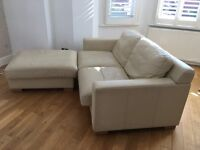 Two seater sofa & footstool. Must go on 1st April