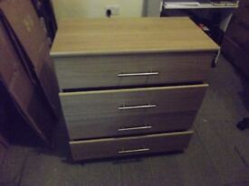 Three Door Wardrobe With Two Sets Of Four Drawer Bedside Cabinets
