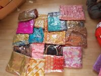 JOB LOT INDIAN SUITS SAREES NEW UNSTITCHED IN PACKAGING