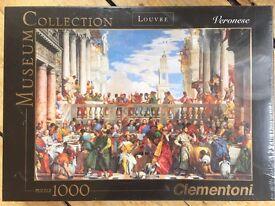 Clementoni 1000pcs jigsaw Fine Art (Louvre Veronese 'Wedding at Cana') New & Sealed, Edinburgh EH10