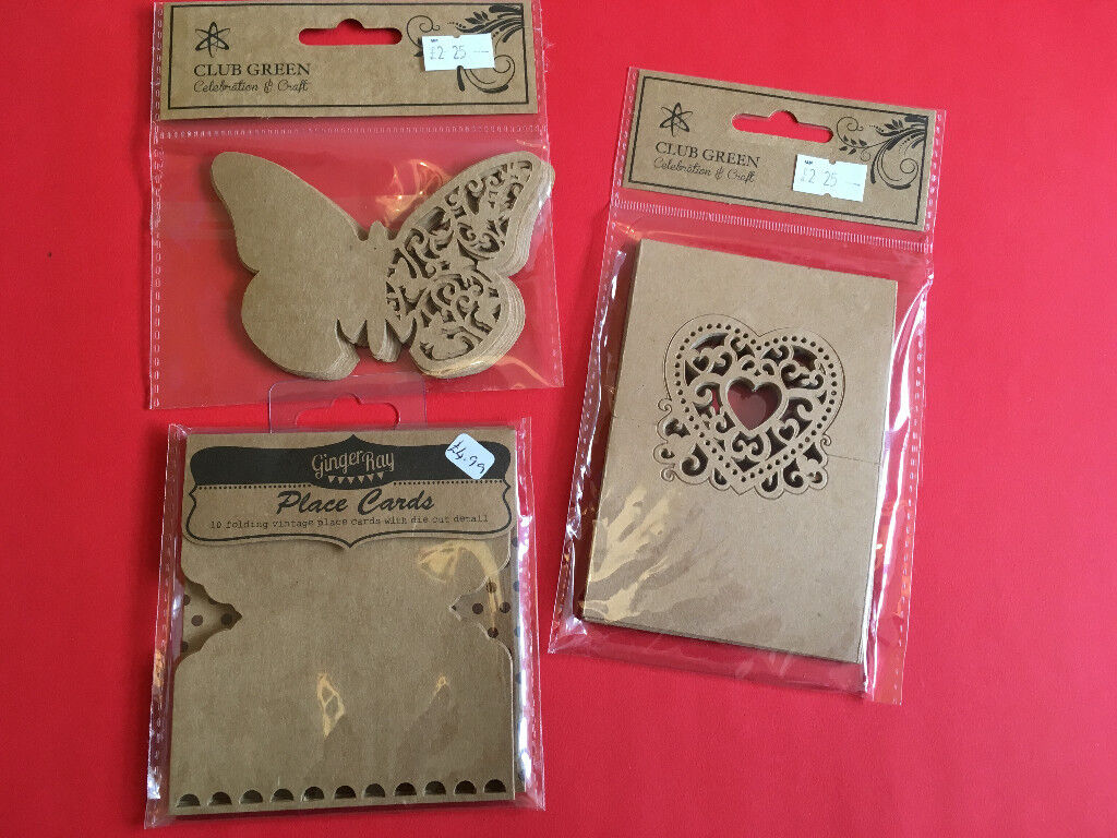 Wedding stationery (invitations, favour boxes, place cards etc ...