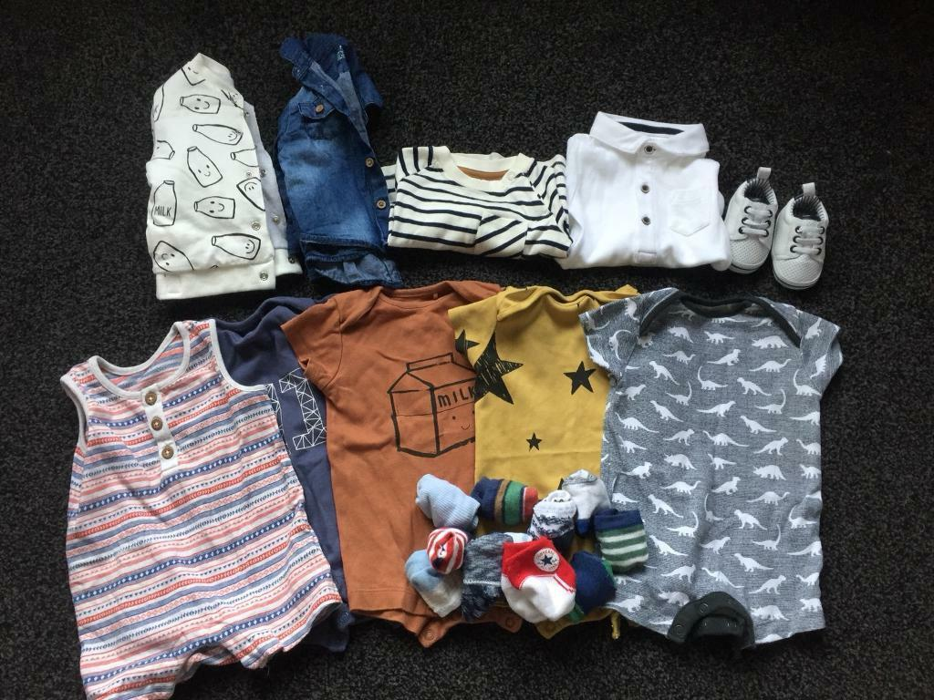Baby boy clothes bundle 0-3