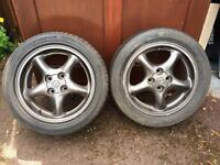 Four 15inch Mazda mx5 wheels