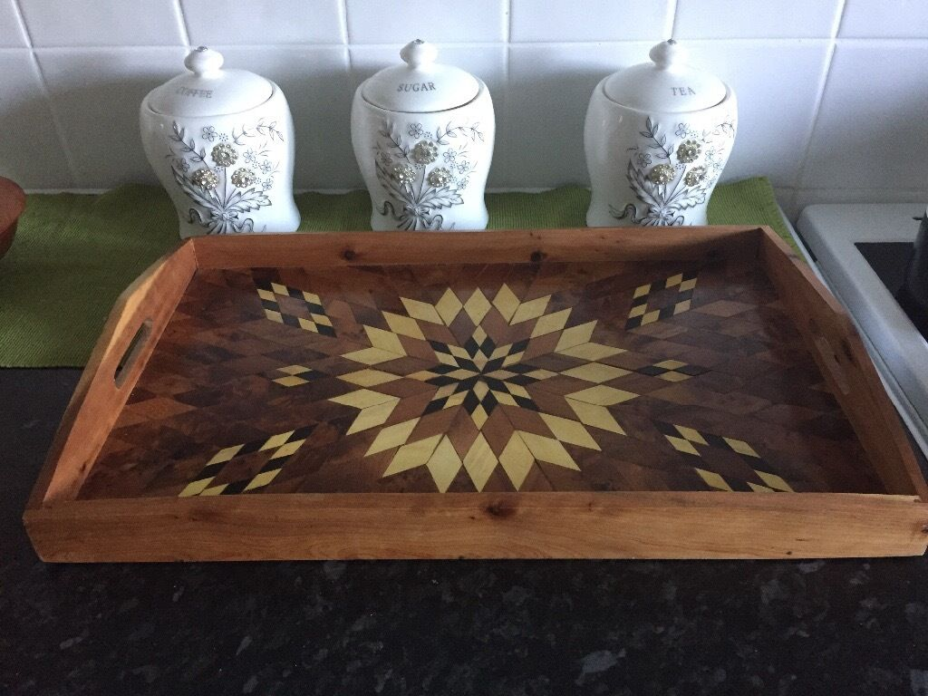 Moroccan argan wood tray