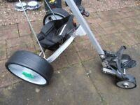 """HILL-BILLY Electric Golf Trolley, ( Plus winter"""" Hedghog """"wheels )"""